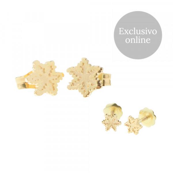 Pack Dúo Pendientes Eguzkilore de Oro Rosa Joyerías Eguzkilore